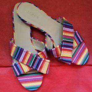 J. Crew Cora crisscross Sandals. Rainbow colors
